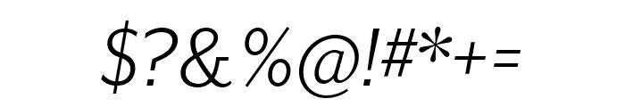 Mr Eaves XL San OT Book Italic Font OTHER CHARS