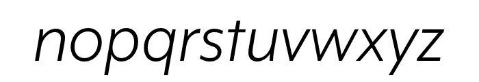 Mr Eaves XL San OT Book Italic Font LOWERCASE