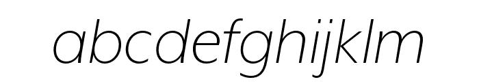 Mr Eaves XL San OT Light Italic Font LOWERCASE