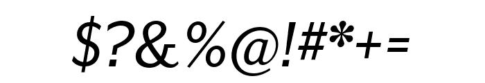 Mr Eaves XL San OT Reg Italic Font OTHER CHARS