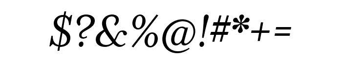 Mrs Eaves XL Serif Nar OT Reg Italic Font OTHER CHARS