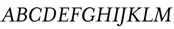 Mrs Eaves XL Serif OT Reg Italic Font UPPERCASE