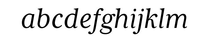 Mrs Eaves XL Serif OT Reg Italic Font LOWERCASE