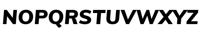 Muli Black Italic Font UPPERCASE