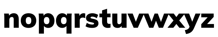 Muli Black Font LOWERCASE