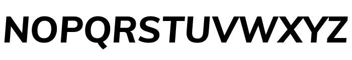 Muli ExtraBold Italic Font UPPERCASE