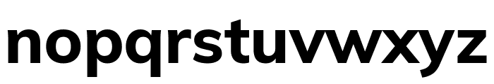 Muli ExtraBold Font LOWERCASE