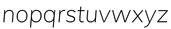 Muli ExtraLight Italic Font LOWERCASE