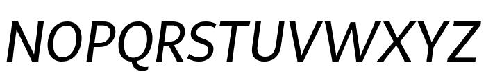 MultiDisplay Regular Italic Font UPPERCASE