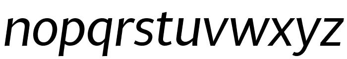 MultiDisplay Regular Italic Font LOWERCASE