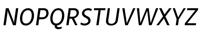 MultiText Regular Italic Font UPPERCASE
