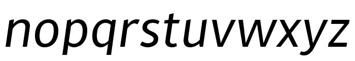 MultiText Regular Italic Font LOWERCASE