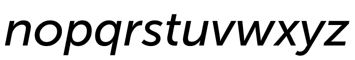 Museo Sans Cond 500 Italic Font LOWERCASE