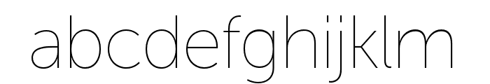 Museo Sans Display ExtraLight Font LOWERCASE