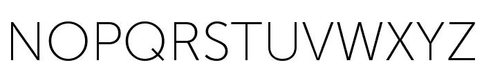 Museo Sans Display Hairline Font UPPERCASE