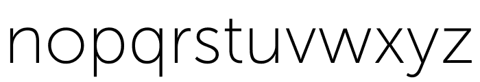 Museo Sans Display Hairline Font LOWERCASE