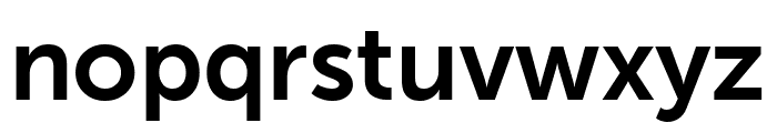 Museo Sans Rounded 700 Font LOWERCASE
