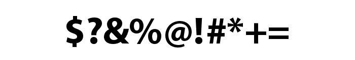 Myriad Arabic Bold Font OTHER CHARS