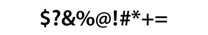 Myriad Arabic Semibold Font OTHER CHARS