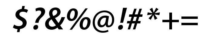 Myriad Bengali Semibold Italic Font OTHER CHARS