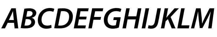Myriad Bengali Semibold Italic Font UPPERCASE