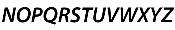 Myriad Hebrew Semibold Italic Font UPPERCASE