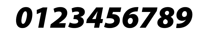 Myriad Pro Black SemiCondensed Italic Font OTHER CHARS