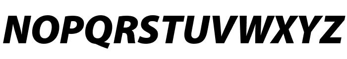 Myriad Pro Black SemiCondensed Italic Font UPPERCASE