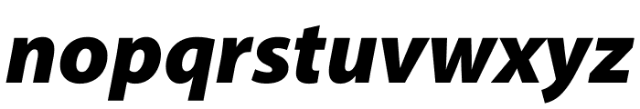 Myriad Pro Black SemiExtended Italic Font LOWERCASE