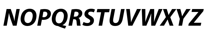 Myriad Pro Bold Condensed Italic Font UPPERCASE