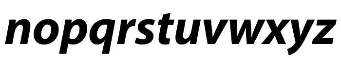 Myriad Pro Bold Condensed Italic Font LOWERCASE