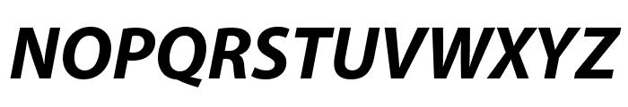 Myriad Pro Bold SemiCondensed Italic Font UPPERCASE