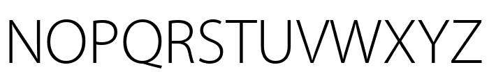 Myriad Pro Light SemiCondensed Font UPPERCASE