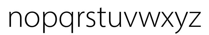 Myriad Pro Light SemiCondensed Font LOWERCASE