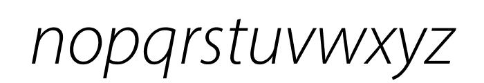 Myriad Pro Light SemiExtended Italic Font LOWERCASE