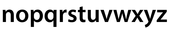 Myriad Pro Semibold Condensed Font LOWERCASE