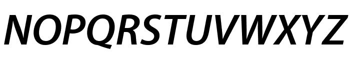Myriad Pro Semibold SemiExtended Italic Font UPPERCASE