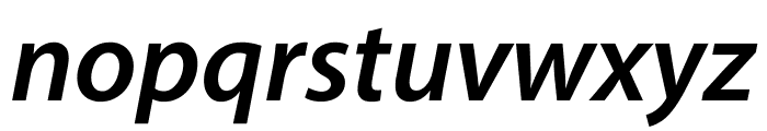 Myriad Pro Semibold SemiExtended Italic Font LOWERCASE