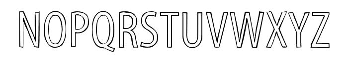 Myriad Std Tilt Font UPPERCASE