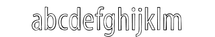 Myriad Std Tilt Font LOWERCASE