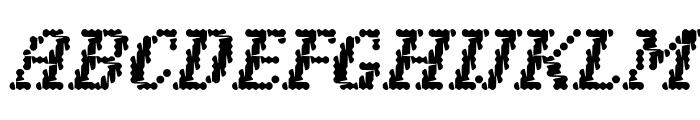 Narly OT Outline Font UPPERCASE