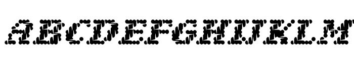 Narly OT Outline Font LOWERCASE