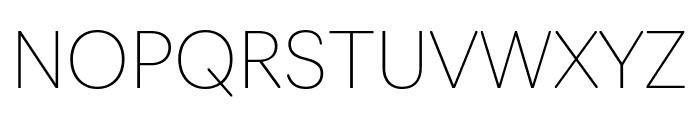 Navigo Thin Font UPPERCASE