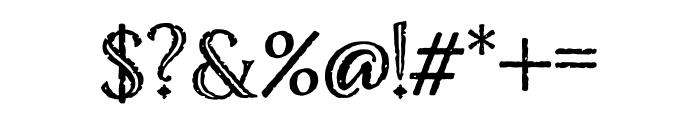 Nelson Engraved Regular Font OTHER CHARS