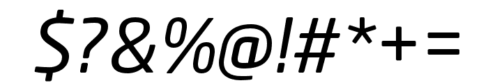 Neo Sans W1G Italic Font OTHER CHARS