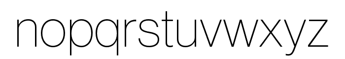Neue Haas Grotesk Display Pro 25 Thin Font LOWERCASE