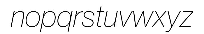 Neue Haas Grotesk Display Pro 26 Thin Italic Font LOWERCASE