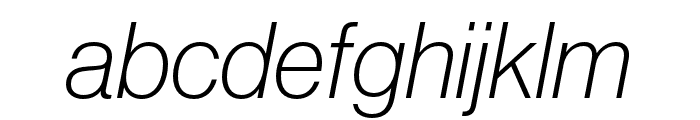 Neue Haas Grotesk Display Pro 36 Extra Light Italic Font LOWERCASE