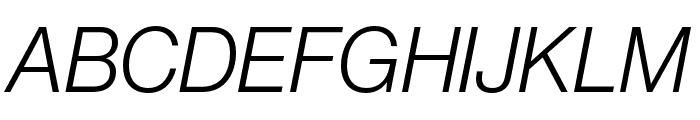 Neue Haas Grotesk Display Pro 46 Light Italic Font UPPERCASE