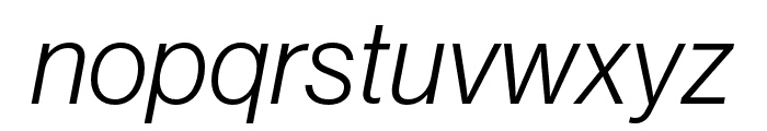 Neue Haas Grotesk Display Pro 46 Light Italic Font LOWERCASE